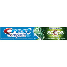 Crest Mint Extra White Toothpaste Plus Scope Outlast