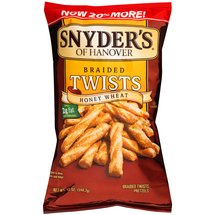 Snyder's of Hanover Honey Wheat Braided Twists Pretzels