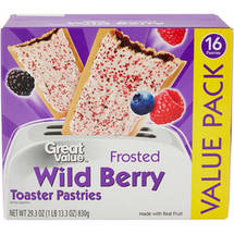 Great Value Frosted Wild Berry Toaster Pastries