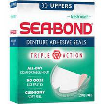 Sea-Bond Uppers Fresh Mint Denture Adhesive Wafers