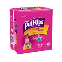 HUGGIES Pull-Ups Girls' Training Pants with Learning Designs Jumbo Pack 2T-3T