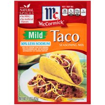 McCormick Mild Taco Seasoning Mix 30% Less Sodium