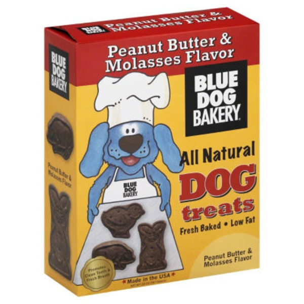 Blue Dog Bakery Peanut Butter & Molasses Healthy Treats for Dogs