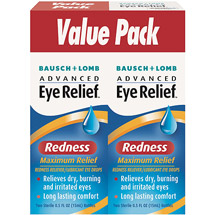 Advanced Eye Relief: Redness Maximum Relief Redness Reliever/Lubricant Eye Drops
