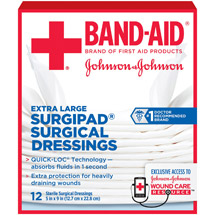Band-Aid Sterile Surgipad Surgical Dressings Extra Large