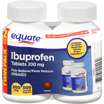 Equate Ibuprofen Pain Reliever/Fever Reducer Coated Tablets