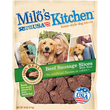 Milo's Kitchen Home-Style Beef Sausage Slices with Rice Dog Treats