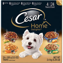 Cesar Home Delights Canine Cuisine Variety Pack 24 3.5-Ounce Trays