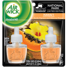 Air Wick Scented Oil Air Freshener National Park Collection Twin Pack Hawaii Exotic Papaya & Hibiscus Flower
