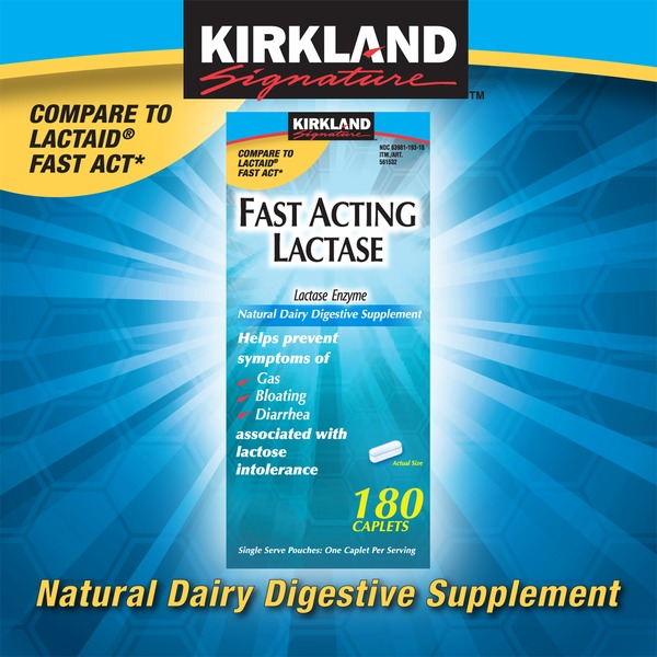 Kirkland Signature Fast Acting Lactase Supplement