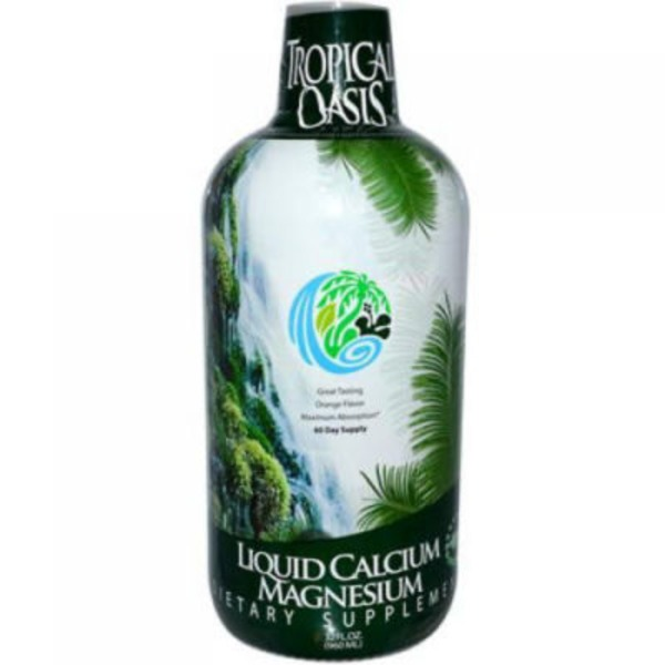 Tropical Oasis Liquid Calcium Magnesium Orange Flavor Dietary Supplement