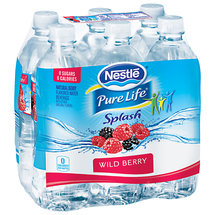 Nestle Pure Life Splash Wild Berry Flavored Water