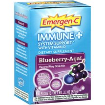 Emergen-C Immune Plus System Support Blueberry-Acai Flavored Fizzy Drink Mix