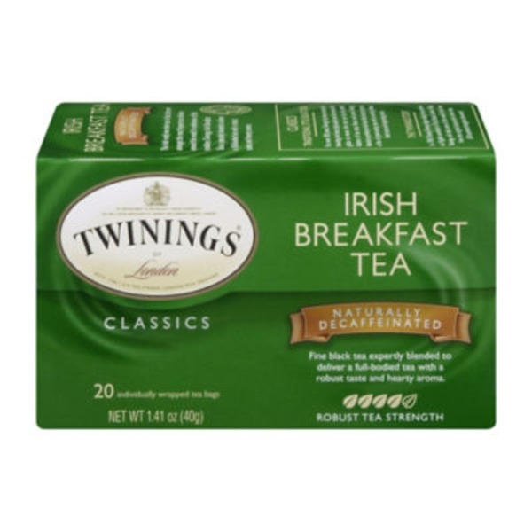 Twinings Irish Breakfast Decaffeinated Tea Bags