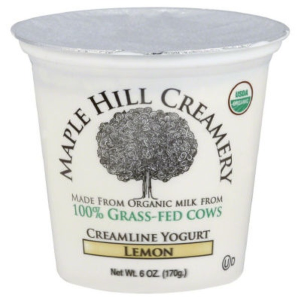 Maple Hill Creamery Organic Grass fed Creamline Yogurt Lemon