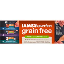 Iams Purrfect Grain Free Variety Pack Wet Cat Food