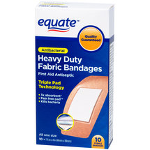 Equate Antibacterial Heavy Duty Fabric Bandages