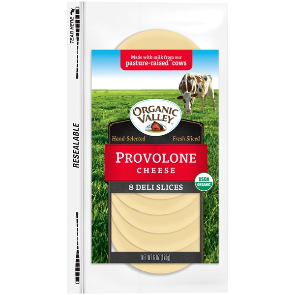 Organic Valley Provolone Slices Cheese