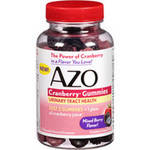 AZO Mixed Berry Flavor Urinary Tract Health Cranberry Dietary Supplement Gummies