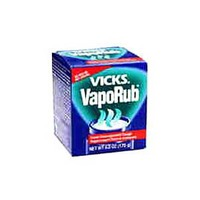 Vicks Vaporizing Decongestant Vicks VapoRub Cough Suppressant Topical Analgesic Ointment 6 oz Respiratory Care