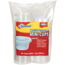 Diamond Multi-Purpose Mini Cups With Lids