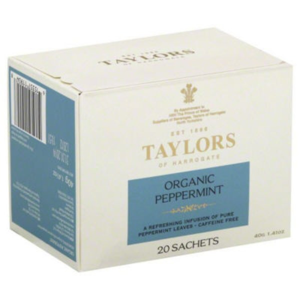 Taylors of Harrogate Organic Peppermint Tea, Caffeine Free