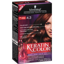 Schwarzkopf Keratin Color Anti-Age Hair Color Kit 4.3 Red Velvet Brown