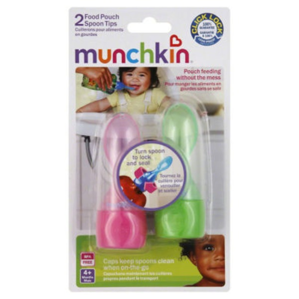 Munchkin Food Pouch Spoon Tips - 2 CT