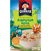 Quaker Dinosaur Eggs Brown Sugar Instant Oatmeal