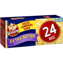 Pop Weaver Extra Butter Microwave Popcorn