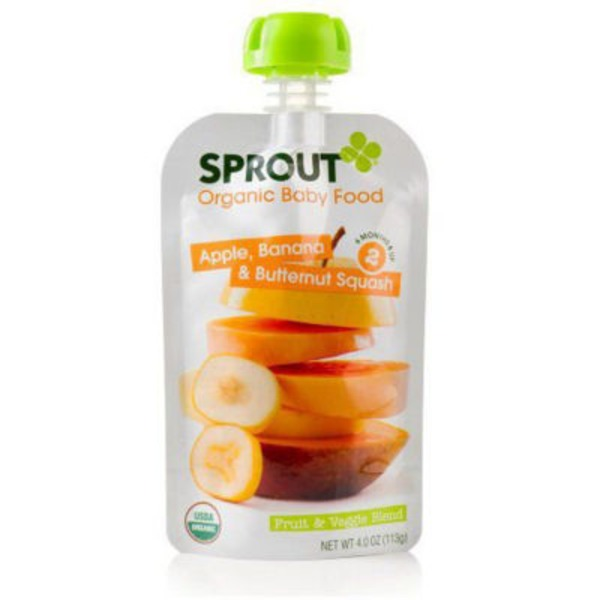 Sprouts Organic Baby Food Apple, Banana & Butternut Squash