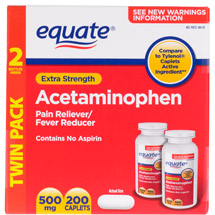 Equate Extra Strength Value Pack Acetaminophen Non Aspirin