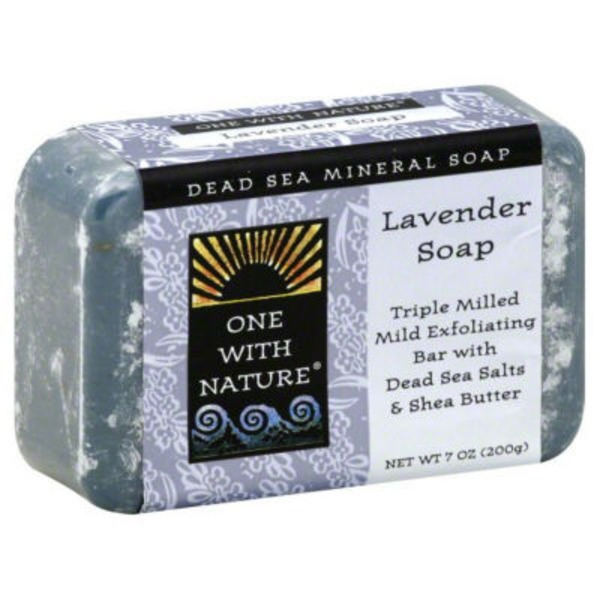 One With Nature Lavender Dead Sea Mineral Soap