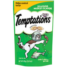 Whiskas Temptations Seafood Medley Flavour Treats For Cats