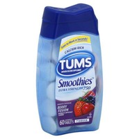 Tums Smoothies Extra Strength Berry Fusion Chewable Tablets Antacid