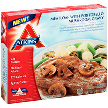 Atkins Meatloaf with Portobello Mushroom Gravy
