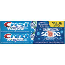 Crest Complete Multi-Benefit Whitening   Scope DualBlast Fresh Mint Blast Flavor Toothpaste Twin Pack
