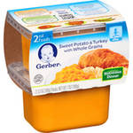 Gerber 2nd Foods Sweet Potato & Turkey with Whole Grains Nutritious Dinner