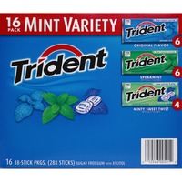 Trident Mint Variety Pack Sugar Free Gum with Xylitol