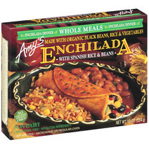 Amy's Enchilada w/Organic Black Beans Rice & Vegetables Dinner
