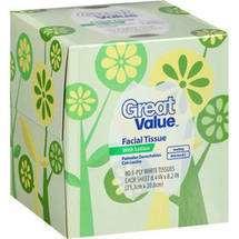 Great Value Facial Tissues with Lotion