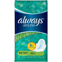 Always Pads Ultra Thin Long Super Wings