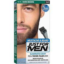 Just for Men Mustache Beard and Sideburns Brush In Color Gel Dark Brown