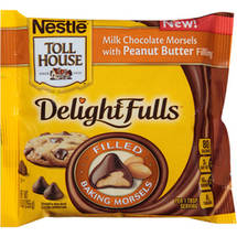 Nestle Toll House DelightFulls Milk Chocolate with Peanut Butter Filling Baking Morsels