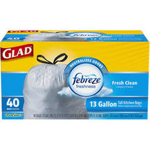 Glad Fresh Clean Tall Kitchen Drawstring Garbage Bags