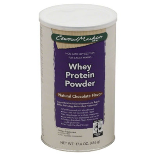 Central Market Whey Protein Powder Natural Chocolate Flavor