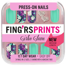 Fing'rs Prints Girlie Glam Press-on Nails Pin-tress