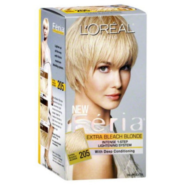 Feria Intense 1-Step Lightening System 205 Extra Bleach Blonde Hair Color