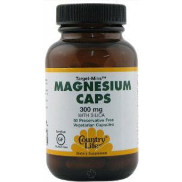 Country Life Magnesium Caps With Silica 300 mg Vegetarian Capsules