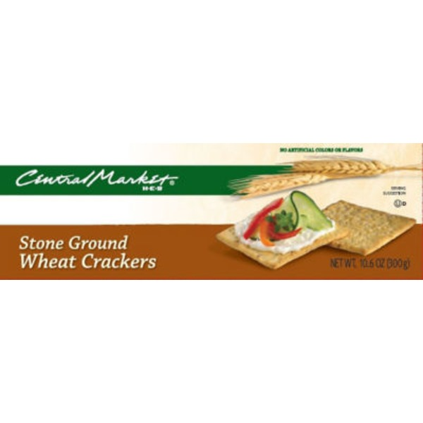 Central Market Stone Ground Wheat Crackers